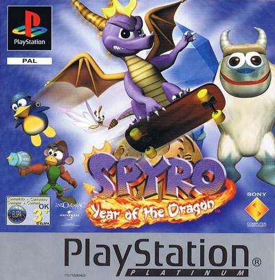 Обложка европейской версии Spyro 3: Year of the Dragon Platinum