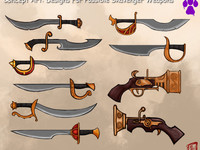 The Legend of Spyro Concept Art: Designs For Possible Skavenger Weapon